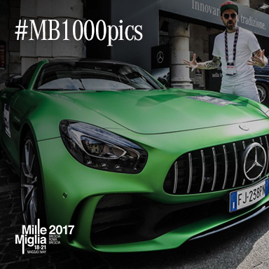 Mercedes-Benz e 1000Miglia corrono di  nuovo insieme