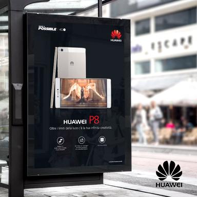 Il lancio del nuovo P8 Huawei